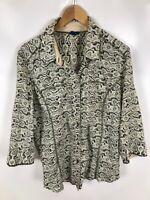 CECIL Damen Bluse, Größe XL, mehrfarbig, Muster, 3/4 Ärmel, lässig, schick