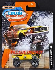 2017 Matchbox Color Changers '68 Ford Mustang Yellow / Mudstanger / Moc
