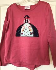 HANNA ANDERSSON Girls Embroidered Shirt Size 120/6-7y