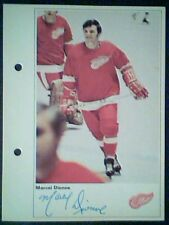 MARCEL DIONNE  DETROIT RED WINGS  71/72 TORONTO SUN 5-1/4 X 7 PHOTO ROOKIE CARD