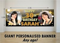 Personalised GIANT Large Happy Birthday Banner 18th 21st 30th 40th 50th 60th N21