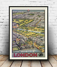 London GWR : Vintage Advertising  Poster reproduction