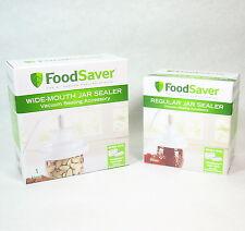 FoodSaver Mason Jar Adapter  Wide & Regular Mouth Sealer Kit