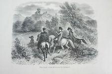 Druck Buchseite Napoleon vitite les ruines de Dierstein Raffet (N127)