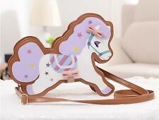 Unique Horse Diecut Shaped PVC Handbag Purse Wallet Animal Cute Girls Gift