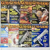 1987 Guns and Ammo Magazines - Lot of 8