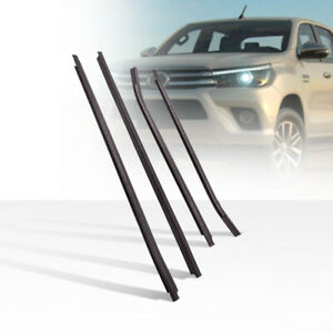 4 Window Glass Seal Weatherstrip Weather Strip for Toyota HILUX Double Cab 05-15