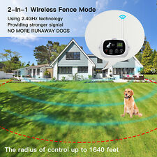 NACRL Wireless Dog Fence, Pet Containment System, Up to 1640 Feet Control Range,