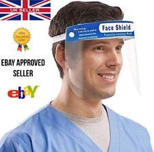 Full Face Visor Shield Guard Mask Cover PPE Safety Clear Plastic Anti-Fog UK
