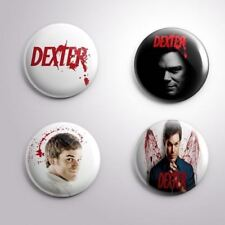 4 DEXTER - Pinbacks Badge Button Pin 25mm 1''