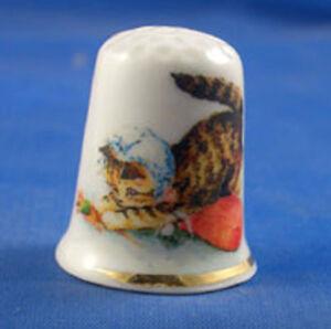 Birchcroft China Thimble -- Beatrix Potter - Miss Moppet -  Free  Gift Box