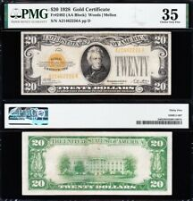 AWESOME Crisp Choice VF++ 1928 $20 GOLD CERTIFICATE! PMG 35! FREE SHIP! 62226A