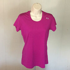 Under Armour UA Womens S Fitted Heat Gear Wicking Shirt T-shirt Pink