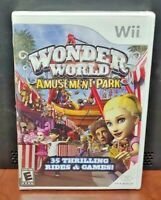 Wonder World Amusement Park  Nintendo Wii and Wii U Rare Game - Brand New Sealed