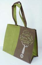 "Jute shopping bag. ""Love My Planet Earth"""