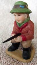 Vintage Lefton Colonial Village 1998 - Boy Fishing - Retired #11534 (#55)