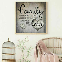 Full Drill Family Love 5D Diamond Painting DIY Cross Stitch Kit Wall Decoration.