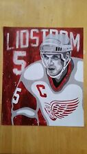 Niklas Lidstrom Poster in honor of Hockey Hall of Fame induction