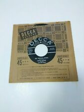 """New listing 45 Rpm Record,Bobby Helms, """"My Special Angel""""/Standing At The End Of My World"""