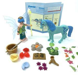 Complete Playmobil 5441 Fairies Healer Fairy Unicorn Sapphire Night Free P&P VGC