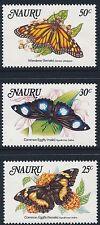 1984 NAURU BUTTERFLIES SET OF 3 FINE MINT MNH/MUH