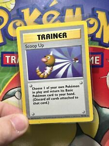 Pokemon - Shadowless Scoop Up  - 78/102 Base set NM 5296