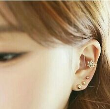 #1161 South Korea three-piece fashion line bead earrings from stars 3pcs/lot