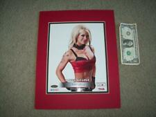 8X10 MATTED Signed ANGELINA LOVE COA 32/99 WWE WWF TNA Wrestling AEW WcW ROH DX