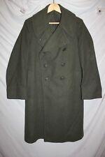 Vintage WW2 US Military Issue Uniform Trench Coat Wool Jacket USMC  J10