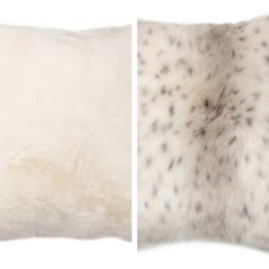 "NEW Brentwood Originals Faux Fur Pillow  20"" x 20"" Soft Plush FREE SHIP"