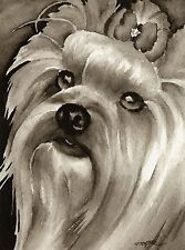 Yorkshire Terrier note cards by watercolor artist Dj Rogers