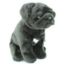 Faithful Friends Pug Dog [24cm] Soft Plush Stuffed Animal Toy - Black NEW