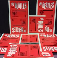 BEATLES - WHY red mgm picture sleeve slicks - old stock from deceased collector