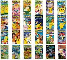 Pokemon Lot of 24 VHS No Repeats Johto Journeys Mewtwo Trainer Video & More