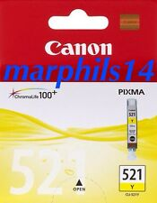 CLI-521Y Genuino/Original Canon CLI-521 Amarillo Tinta carridge Pixma