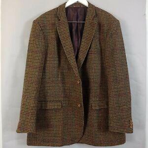 Samuel Windsor Tweed Check Blazer Jacket 48 R Mens Houndstooth Wool Sports Coat