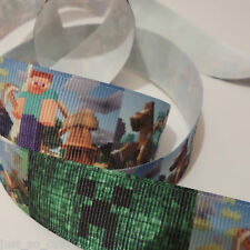 minecraft ribbon 1 metre -crafts - hair bows - dummy clips -cakes - sewing (2)