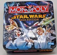 Star Wars Collectible Tin Monopoly Saga Edition From Parker Brothers Complete