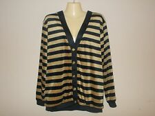 Gepetto Womens Size S NWOT Striped Button Down Heavy Cardigan Long Sleeves