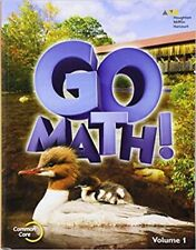 2nd Grade 2 Go Math Volume 1 Student Edition 2015 Common Core