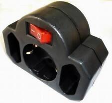 Enchufe Múltiple 3X con Interruptor Negro Distribuidor Enchufe Adaptador Nuevo