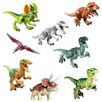 8pcs SET Jurassic World Dinosaurs Model Mini Figure Building Block Toy Kids Gift