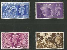 G. B. Stamps.  George  VI  1948  Olympic  Games  set  U/Mint