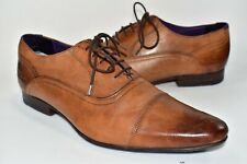 Ted Baker Rogrr 2 Brown Leather Dress Shoes Cap Toe Oxford Mens US Size 10