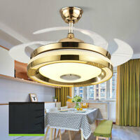 "42"" Ceiling Fan Light 3 Color Chandelier Lamp+Bluetooth Remote Control BEST DEAL"
