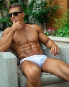 "REDUCED! Men's Classic White 1"" Solar SPEEDO Swimwear! Authentic and Genuine."