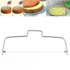 Cake Slicer Bread Leveler Dough Cutter Puppets Stainless Steel Adjustable 2 Wire