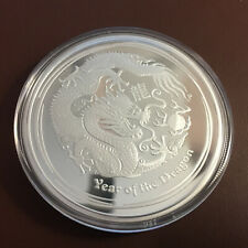 2 oz Drache Lunar II proof silver silber coin 2012 Year of the Dragon +COA