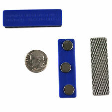 40 Extra Stronge Badge Name Tag Holders with 3 Rare Earth Magnet and Adhesive