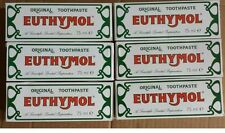 Euthymol Original Toothpaste Brand of Antiseptic - 6 X 75ml